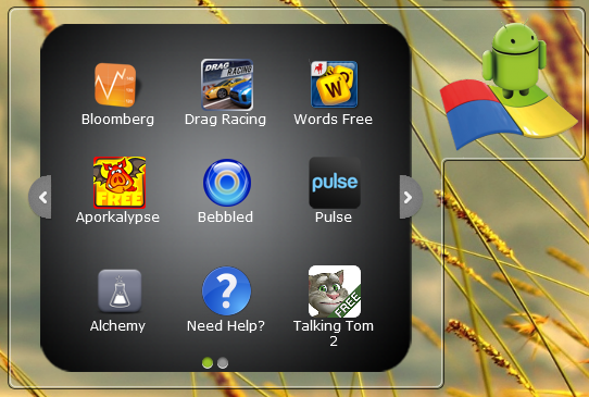 BlueStacks App Player mit den standard-Anwendungen