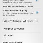 Benachrichtigungseinstellungen in Android Mail