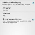 Benachrichtigungseinstellungen in Google Mail