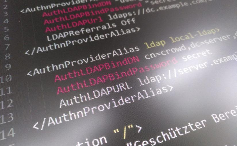 Apache gegen mehrere Verzeichnisse authentifizieren