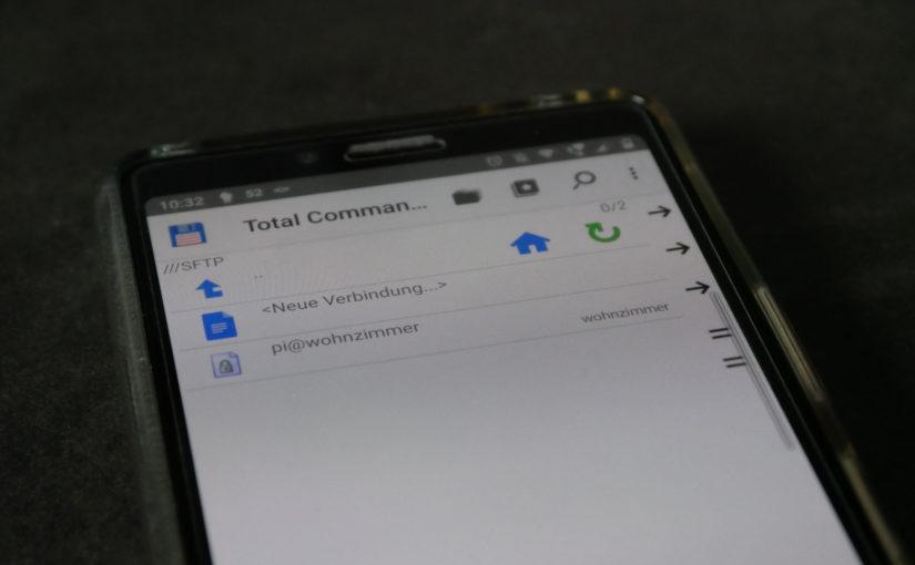 SFTP mit Public Key Authentifizierung und Total Commander auf Android